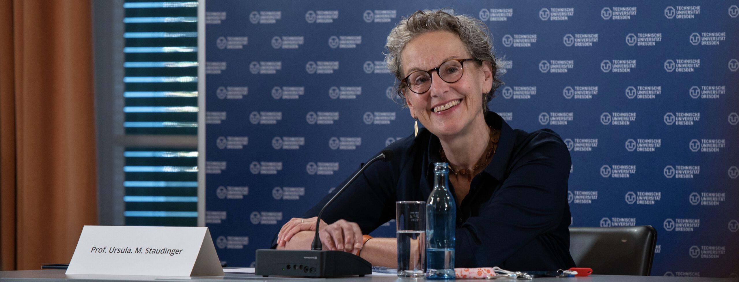 Ursula Staudinger tritt Amt als Rektorin der TU Dresden an